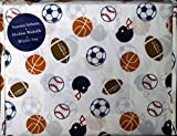 Charles Street 3 Piece TWIN Sheet Set Sports Balls Soccer Football Baseball Basketball