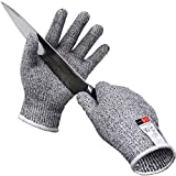 IRVING Outdoor anti-skid 5 anti-cutting kitchen slaughterhouse construction stab-resistant anti-cutting machinery safety anti-knife cutting gloves (Size : XXL)