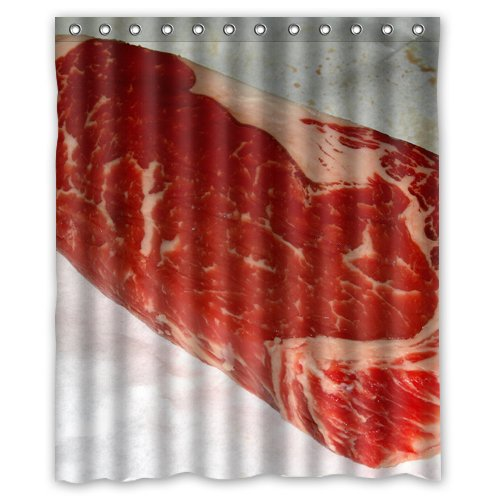 Beef Food Shower Curtain 60 X 72 Inch Bathroom