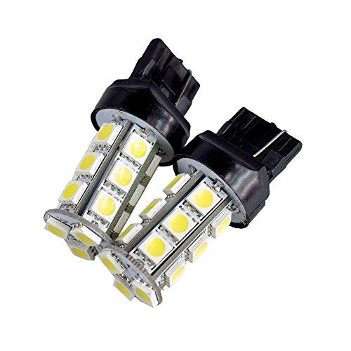 New Xenon LED BACKUP REVERSE LIGHT BULB 18 SMD T20 7440 7441 White 2-pack