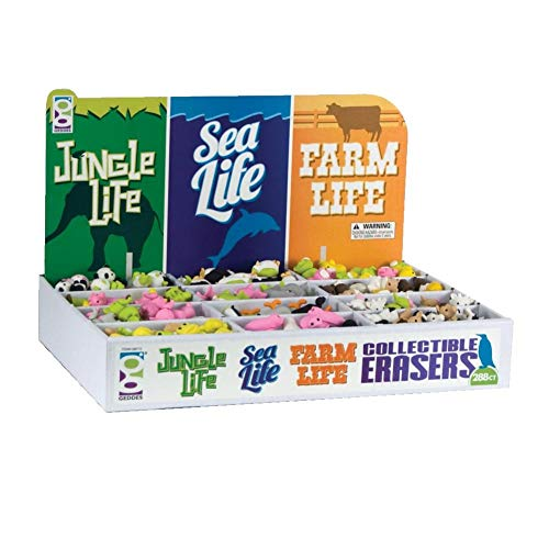 Raymond Geddes Jungle Sea & Farm Life Collectible Erasers, 288 Pack (68510) by Raymond Geddes (Image #4)