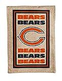 NFL Chicago Bears Limited Edition Logo Burlap Garden Flag, Medium, Multicolored
