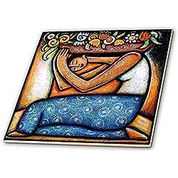 Paul Honatke impresiones y diseños - arte mexicano coloridas flores y corazones - azulejos