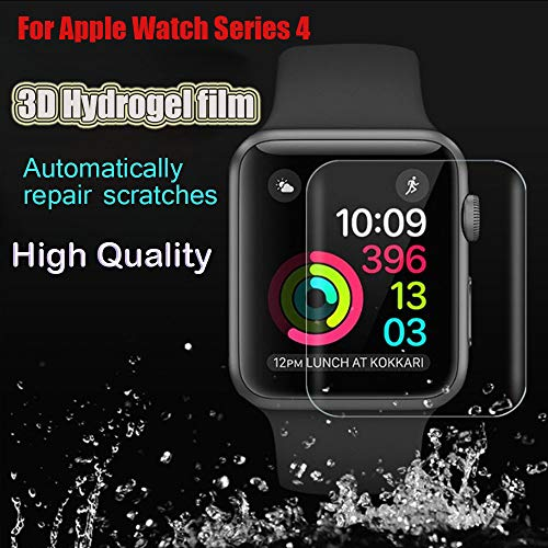 [3 Pack] for Apple Watch Screen Protector 44mm, Women Men Accessories Transparent TPU 3D Hydrogel Film Screen Protection For Apple Watch Series 4 44mm
