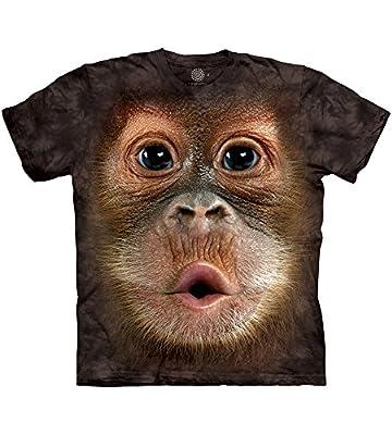The Mountain Men's Big Face Baby Orangutan T-Shirt, Brown