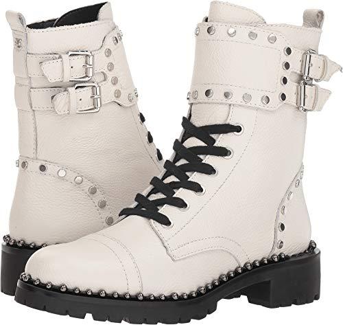 Sam Edelman Women's Jennifer Combat Boot, Bright White Leather, 8 M US ()