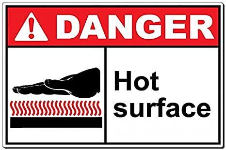 Amazon.com: Cartel Peligro: Peligro caliente superficie ...