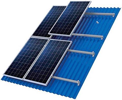 Würth Aluminiumrahmen für 3 Solarpanele für Sandwichblech