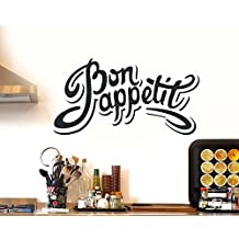 ArtStickers Bon Appetite Kitchen Wall Sticker Vinyl Decal Art Restaurant Pub Decor Love