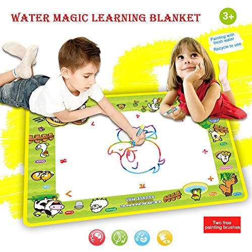 GonPi | Drawing Toys | 1 Piece Hot Drawing Toys Happy Farm Magic Water Drawing Mat Board Painting and Writing Doodle with Magic Pen Non-Toxic Board for - Matboard Decorative