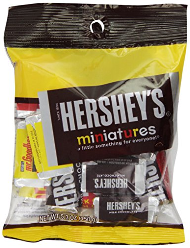 HERSHEY'S Chocolate Candy Bar Assortment, Miniatures (Hershey's, Krackel, Mr Goodbar, Special Dark), 5.3 Ounce (Pack of 12)
