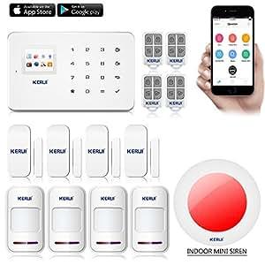 KERUI G18 Kit Alarma Hogar seguridad inalámbrica telefónica GSM para Android & iOS Seguridad Sistema de