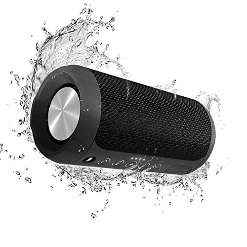 Bluetooth Speaker,Portable Waterproof Speakers 12W with Strong Bass,15-Hour Playtime,TWS,Built-in Mic,3.5mm Audio in,4.2 Bluetooth Speakers for Smart Phones/PC/Laptops/Tablet/MP3