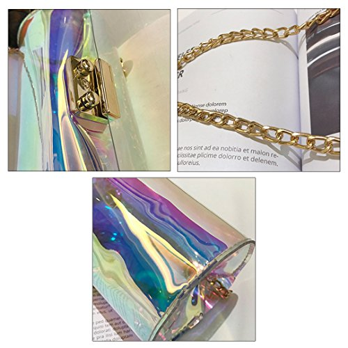 Holographic Body PVC Bag Cross Felice Bag Shoulder Women's Clutch Chain Laser PYnt05qw