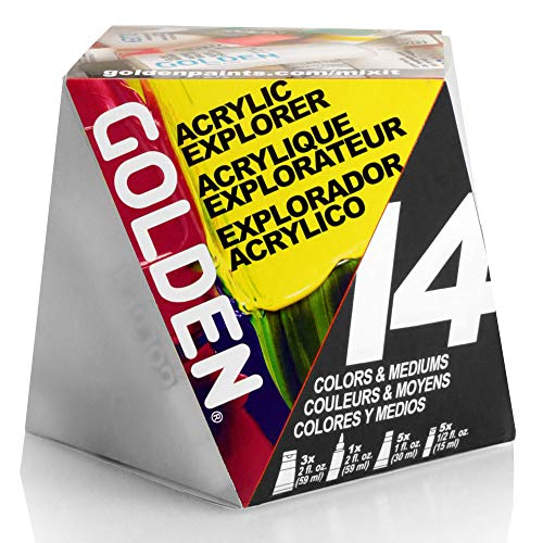 Golden A-Z Heavy Body Acrylic Paint Starter