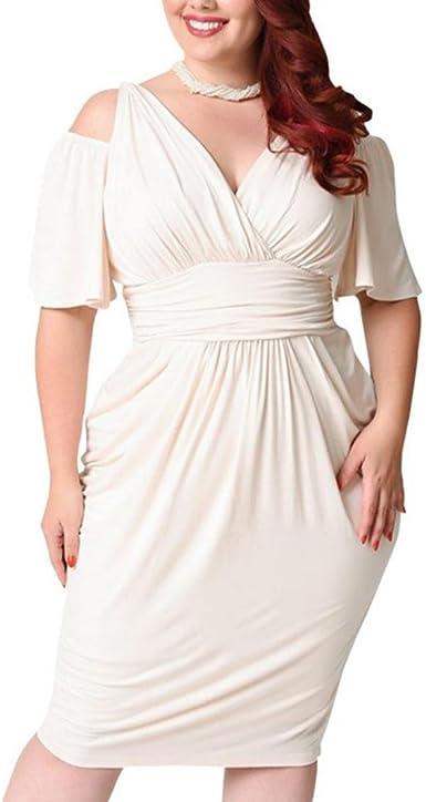 Familizo Vestidos Tallas Grandes Mujer Fiesta Vestidos Tallas Grandes Mujer Verano Vestidos Sin Hombros Blanco Vestidos Mujer Talla Grande Fiesta Corto Vestidos Manga Corta Mujer Fiesta Amazon Es Ropa Y Accesorios