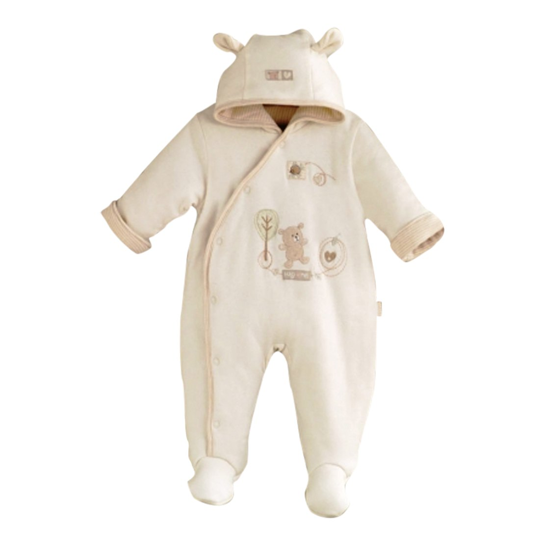 Natures Purest Hug me Snow Suit, embroidered detailing,teddy bear ears on the hood 3-6Months.