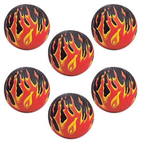 Flame Mini Basketballs (6 pc) by Designed 2B Sweet B01LVVCJ24