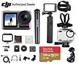 DJI OSMO Action - Waterproof Digital Action Camera, Professional Bundle, with Smatree Power Stick, Waterproof Case, 128GB Extreme SD Card, Tripod Stand, Harness Mount, Lens Cleaning Cloth and More