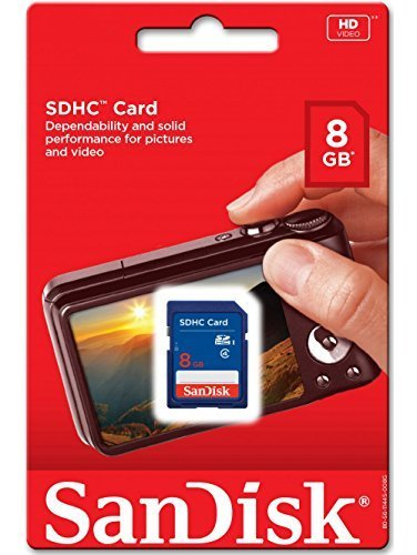 10 Piece SanDisk SDSDB-008G 8GB SDHC Class 4 SD sdhc flash Memory Card for DSLR Camera Nikon Canon 2 SDHC cards are fully compatible with all SDHC-compliant devices Writeable label for easy identification and organization Security: Built-in write-protect switch prevents accidental data loss