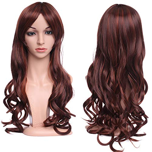 Cosplay Japanese Synthetic Resistant Highligted