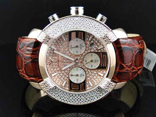 ino Joe Rodeo Burgundy Leather Band Diamond Watch W#96 .45ct ()