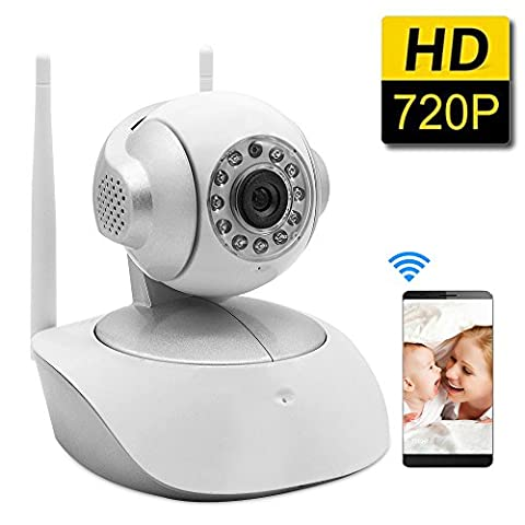SDETER Security Wireless Camera 1280x720P Home Surveillance WIFI Camera, Baby Video Monitor With Night - Everfocus Alarm