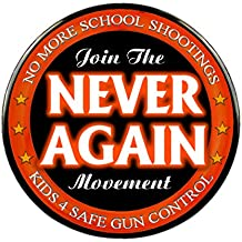 Pack-1 Never Again Protest Pins, Select Size