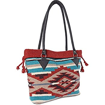 78ddc1ce66d8 Handwoven Wool Malibu Purse with Genuine Leather handles. Large Eco  Friendly Tote Bag