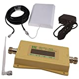 LS 3G mobile phone signal amplifier 2100MHZ signal booster outdoor wall antenna +10 meters 5DFB cable + indoor folding antenna 500 square meters