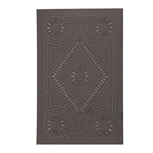 Irvin's Country Tinware Extended Diamond Panel in Blackened Tin