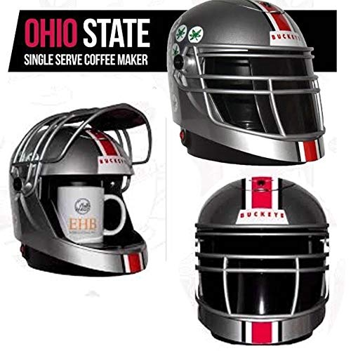 Ohio State Buckeyes EHB Full Size Single Pod Serve Helmet Coffee Maker - Beverage Buckeyes Ohio State