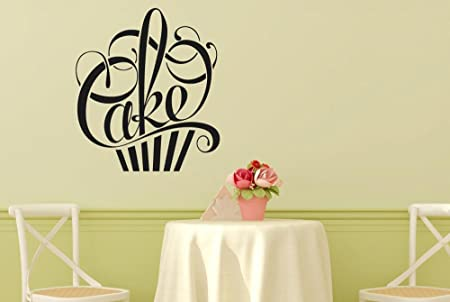 Writing In Form Of A Cake Wall Stickers And Art Decals - Medium ...