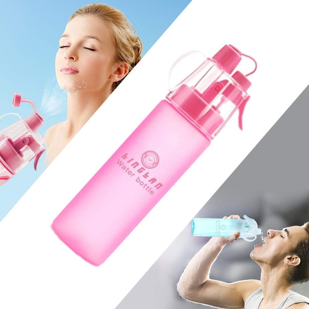 LINGLAN - Botella de agua deportiva sin BPA, 580 ml, para ciclismo, escalada, senderismo y montañismo, color Rojo esmerilado., tamaño 580ml