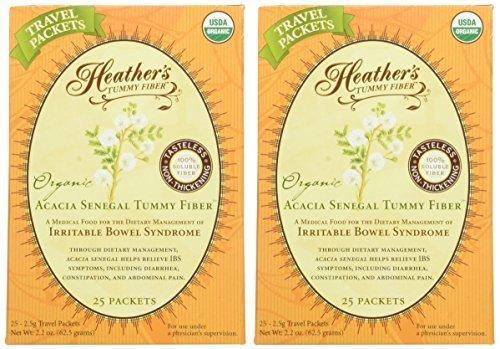Heather's Tummy Fiber Organic Acacia Senegal Travel Packets by Heather's Tummy Care