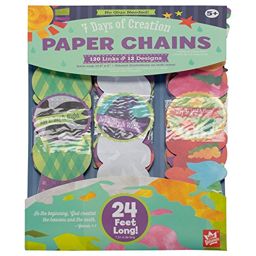 Wee Believers 7 Days of Creation Full Color 24 Foot Paper Chain Activity Set]()