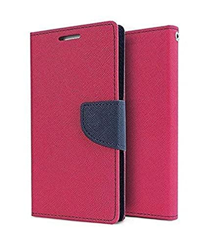 newest 7671b 08c48 Delkart Total Protection Purse Style Flip Cover with Megnetic Lock for  Samsung Galaxy Grand Prime 4G (Pink)