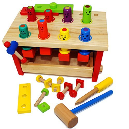 wooden construction pounding bench deluxe