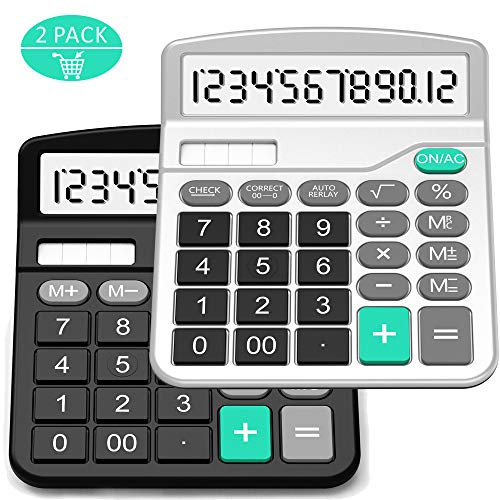 Calculator, Splaks 2 Pack Standa...