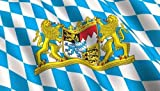 3x5 BAVARIAN FLAG Bundeslnder German State lion crest banner bavaria