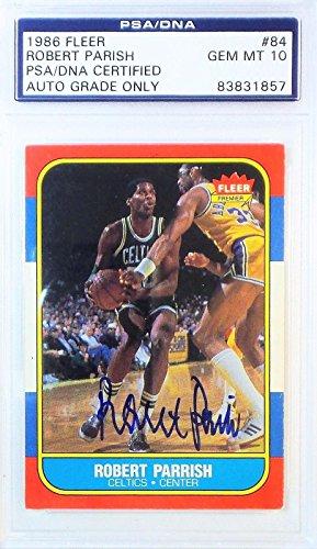 Robert Parrish Signed 1986 FLEER Card GEM MT 10 83831857 - PSA/DNA Certified - Basketball Autographed Cards ()