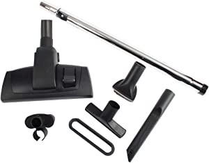 """Cen-Tec Systems 95083 12"""" Combination Hard Floor and Carpet Vacuum Nozzle and Attachments with Universal Friction Telescopic Chrome Wand, Kit w, Black"""