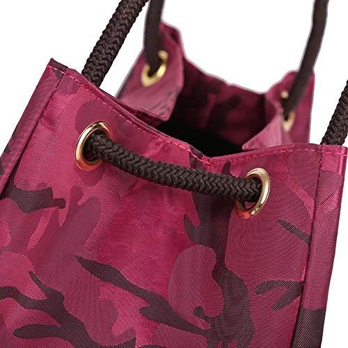 donne Nero shopping Rosso per tracolla a casual Borse Moontang per capienza a grande Dimensione Colore q7wZv1I