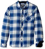 O'Neill Men's Watt Flannel Shirt, Fog, Small