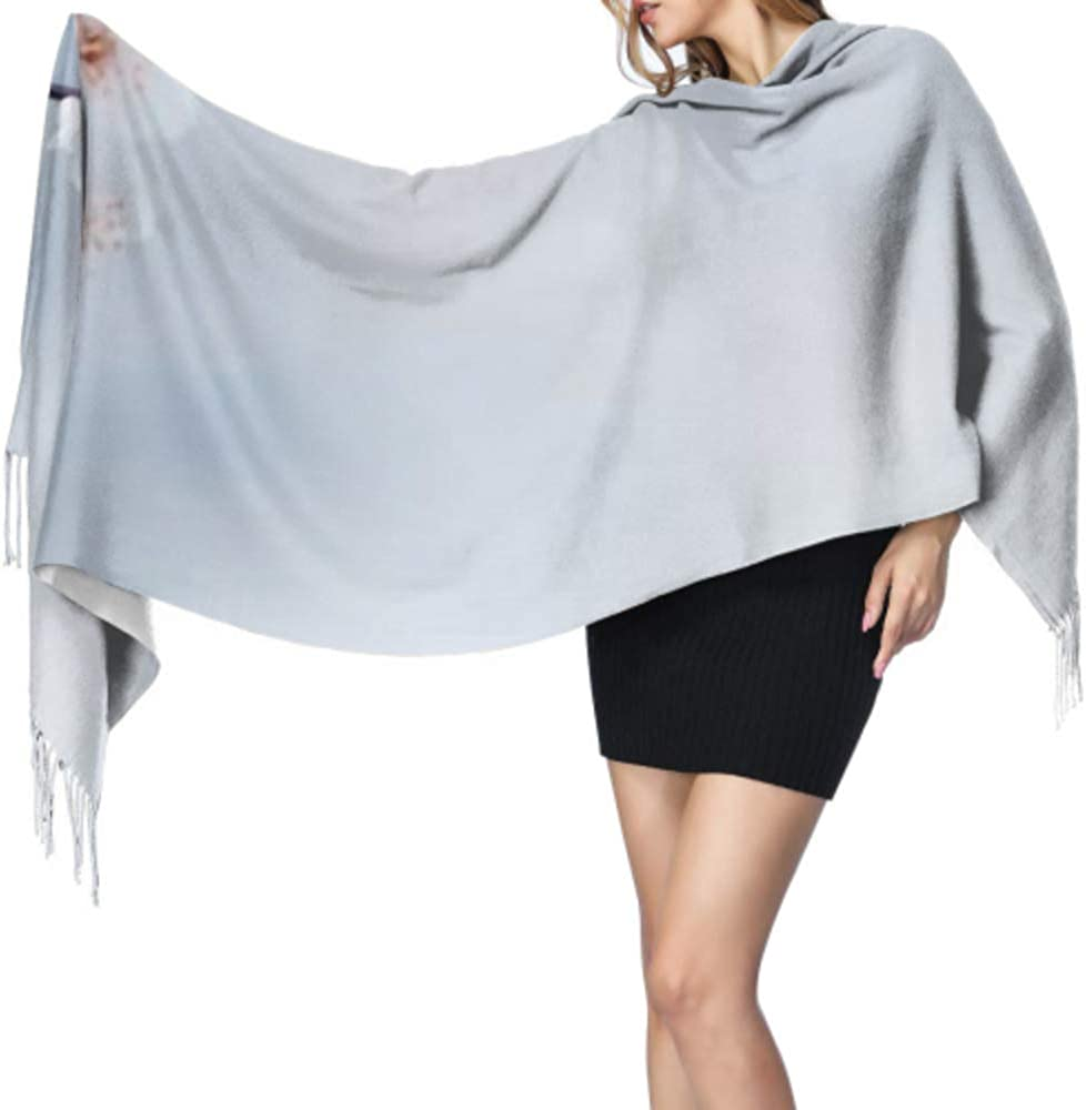 Flowers Long Large Warm Scarves Wrap Shawl Stole Classic Cashmere Feel Unisex Winter Scarf