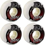 Blood Orange Street Conical White / Red Skateboard Wheels - 57mm 99a (Set of 4)