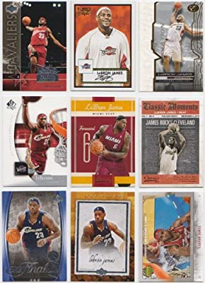 LeBron James / 9 Different Basketball Cards Featuring LeBron James