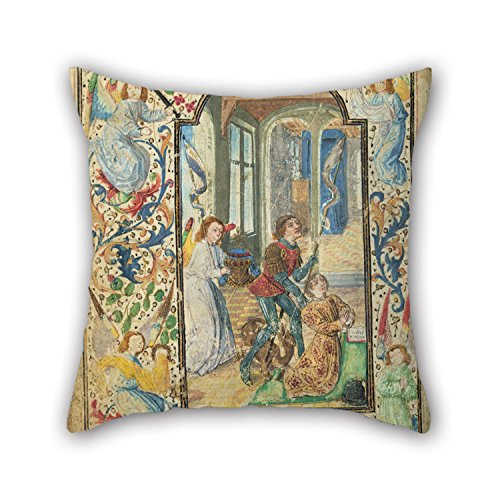 [Uloveme 18 X 18 Inches / 45 By 45 Cm Oil Painting Lieven Van Lathem (Flemish - Charles The Bold Presented By Saint George Pillowcover,both Sides Is Fit For Wife,bar,father,dinning Room,teens,home] (Bold Jumpsuit Costumes)