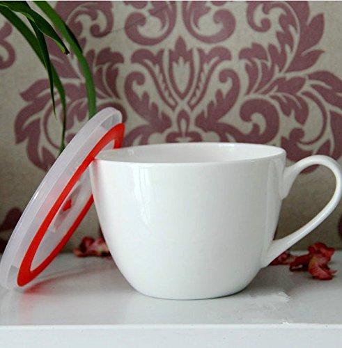 WJIANLL Tazas de desayuno de hueso China taza grande de leche fideos instantáneos de una taza de agua taza taza de avena de la taza, 12 * 9cm: Amazon.es: ...