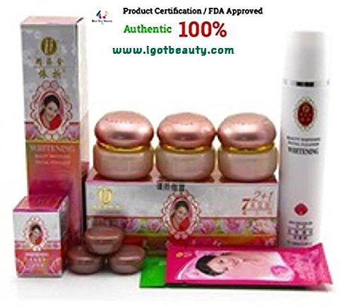 (Authentic 100%)YIQI BEAUTY WHITEINING 2+1 EFFECTIVE IN 7 DAYS (set / Exp. NEW! Exp. 2020)+ FDA Approved+ High Quality+Free! small Sample